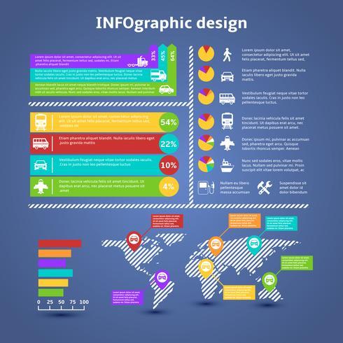 Éléments d'infographie de trafic de transport