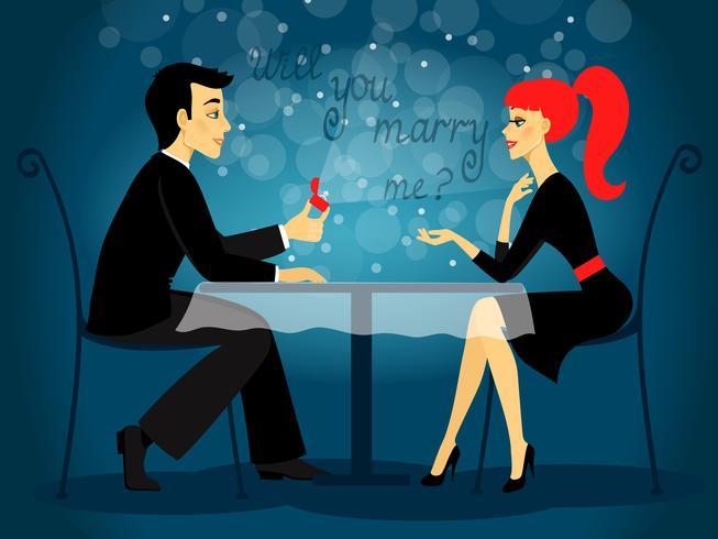 Kommer du att gifta dig med mig, äktenskapsförslag