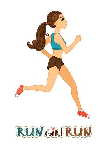 Chica corriendo aislada