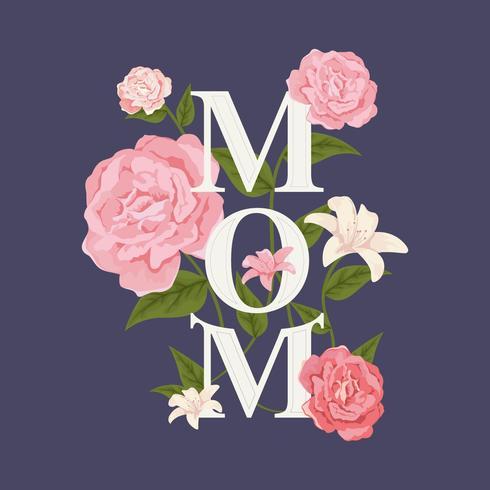 Vector de tipografía de mamá