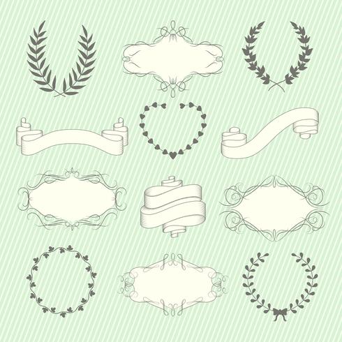 Conjunto de elementos do casamento