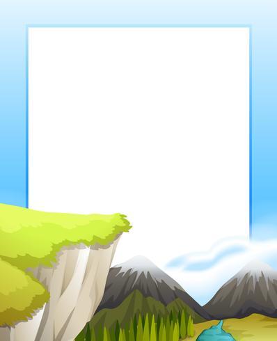 Border design med utsikt över bergen