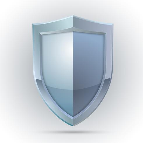 Blank shield protection emblem