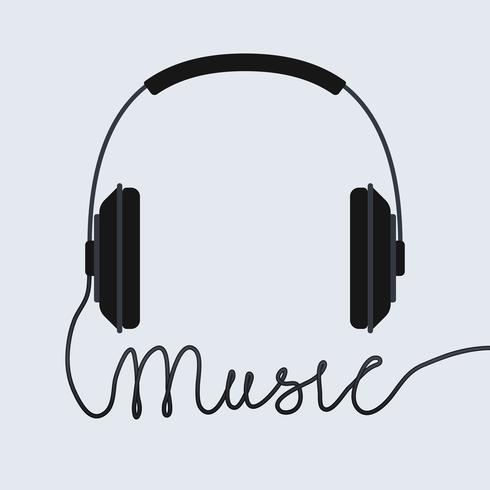 Icono de auriculares de música vector