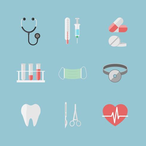 Gezondheidszorgpictogrammen voor ziekenhuiswebsite vector
