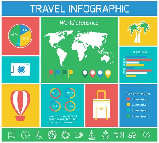 Vacaciones viajes elementos de infografía vector