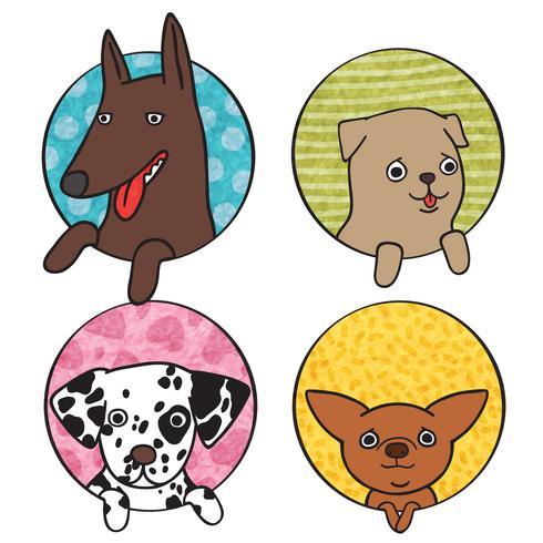 Söt hunds ikonuppsättning