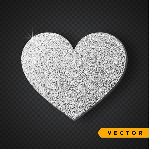 Silber funkelt Herz