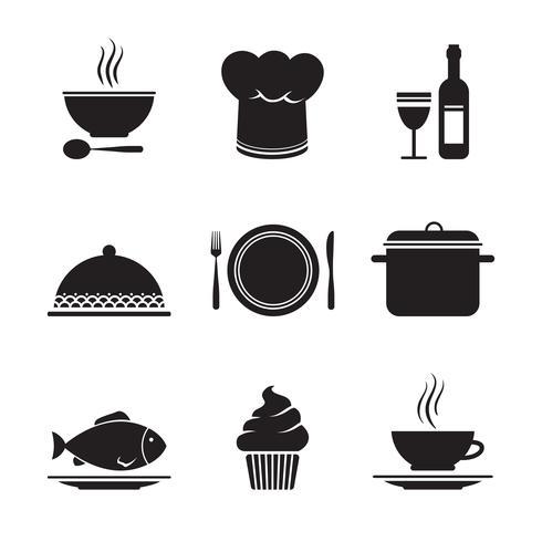 Collection d'éléments de conception de restaurant