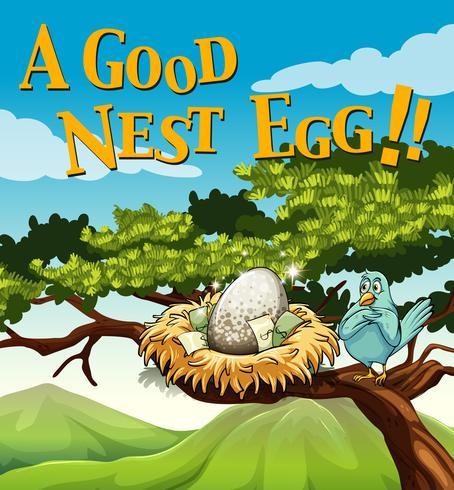 Frase em pôster para bom ninho de ovos