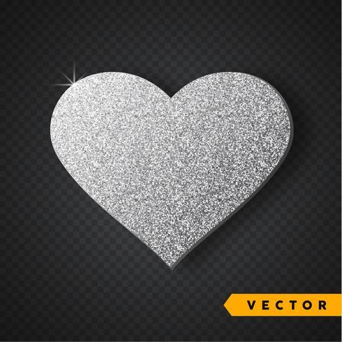 silver glitter hjärta