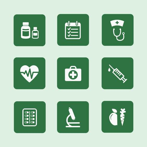 hälsa ikoner uppsättning