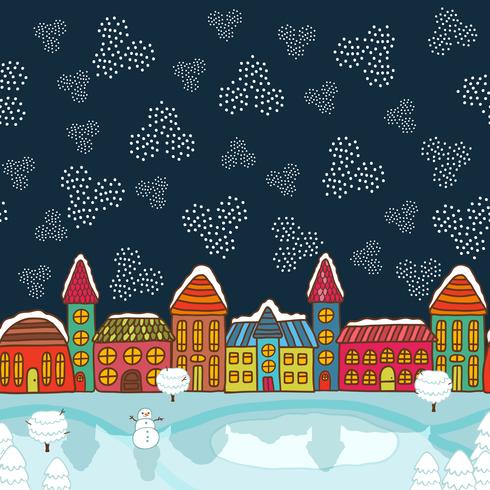 Julhus bakgrund vektor