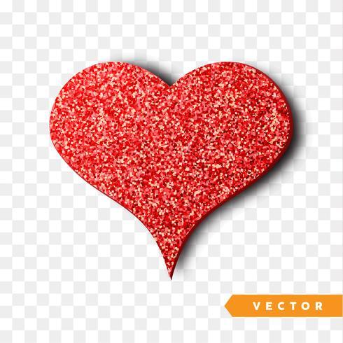 röda gnistrar hjärta