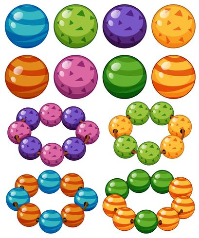 Knikkers in verschillende kleuren vector