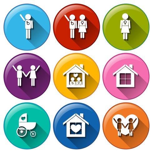 Runde Knöpfe für die Familienplanung