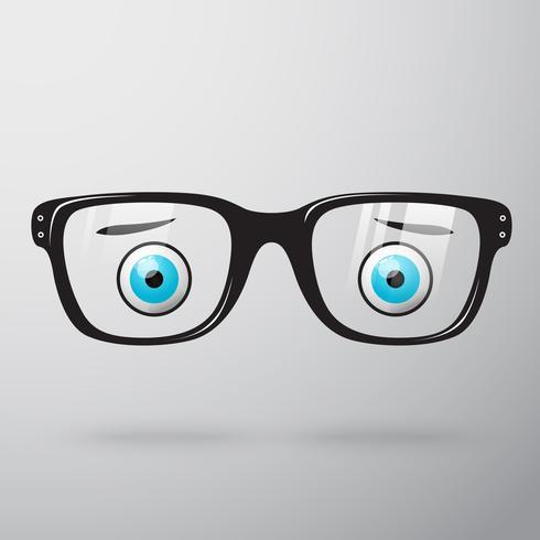 Óculos preocupados com os olhos vetor