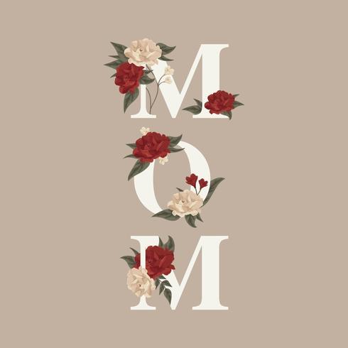 mamma typografi vektor