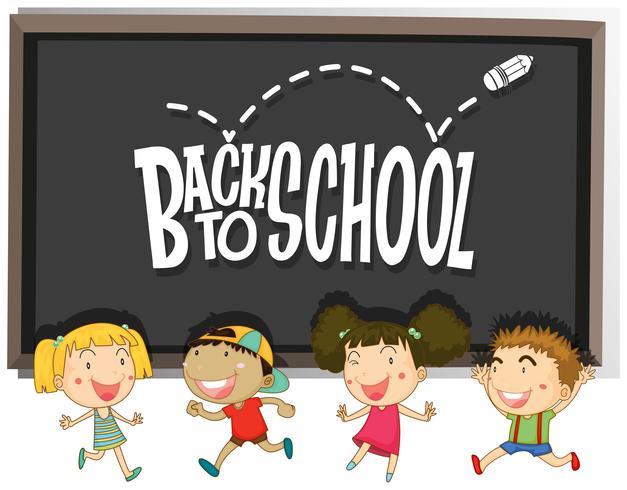 De volta ao tema da escola com as crianças