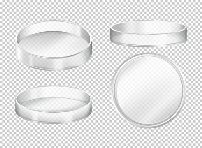 Runde transparente Platten auf transparentem Hintergrund
