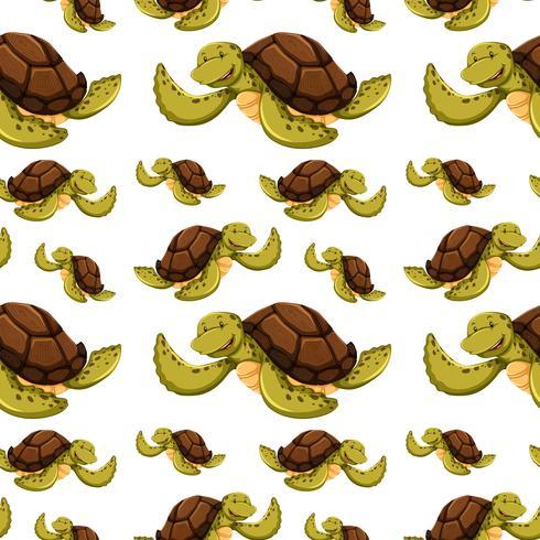 Fond transparent avec des tortues