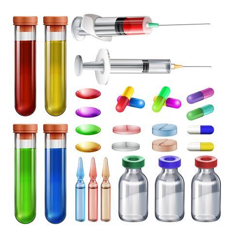 Equipamentos médicos e remédios