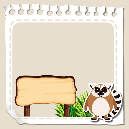 Rahmenvorlage mit Lemur