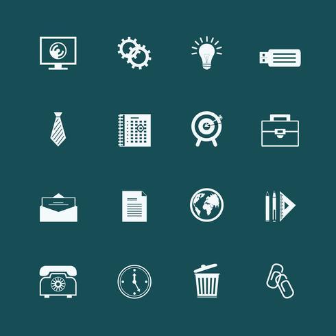 Artículos de papelería de negocios de recogida de internet.