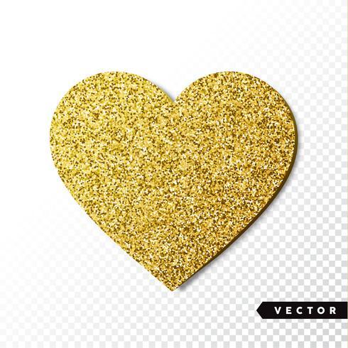 Cuore di scintille d'oro