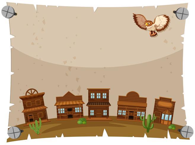Papierschablone mit westlicher Stadt