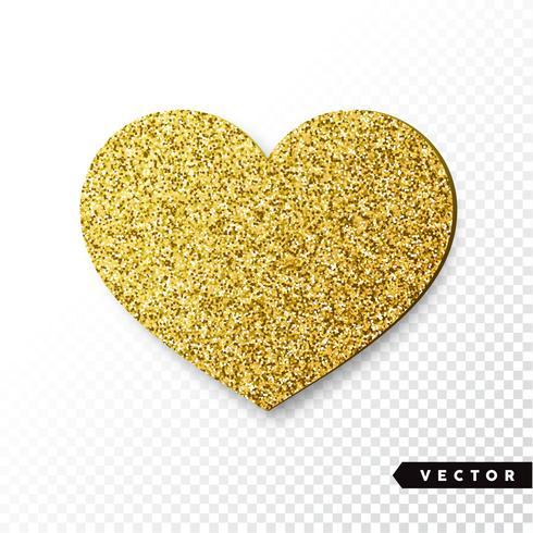 goud fonkelt hart