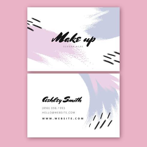 Künstlerische Und Bunte Visitenkarte Schablone Download