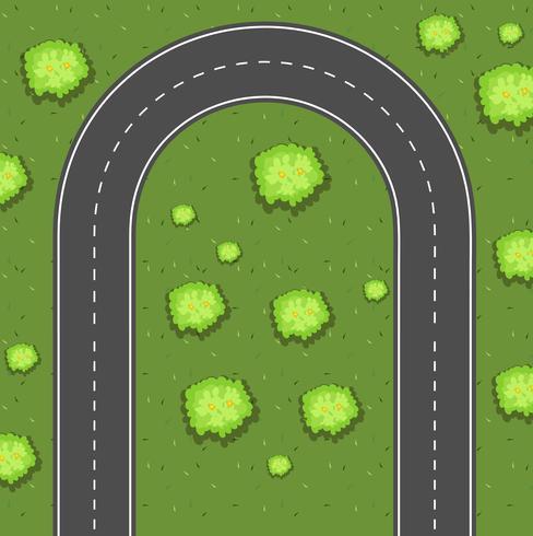 Luftbild der Wende Straße
