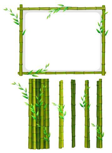 Bambu ram och bambu pinnar