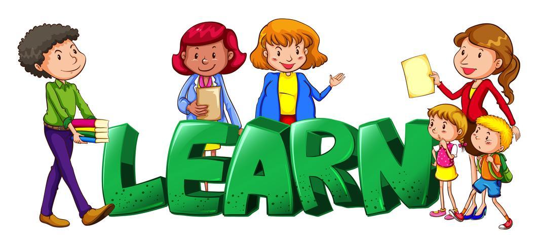 Letterontwerp voor woord leren met docenten en studenten