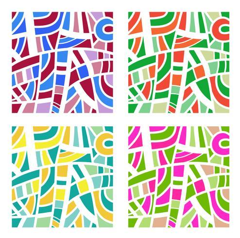 Abstrakter Hintergrund in vier Farben