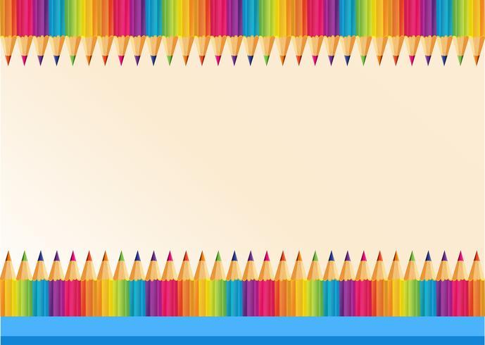 Progettazione del bordo con colorpencils