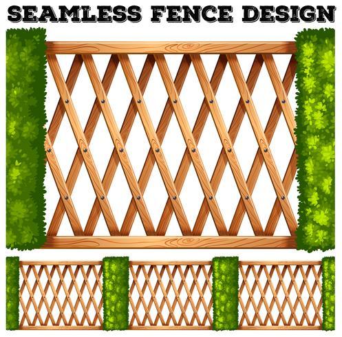 Nahtlose Holzzaun Design