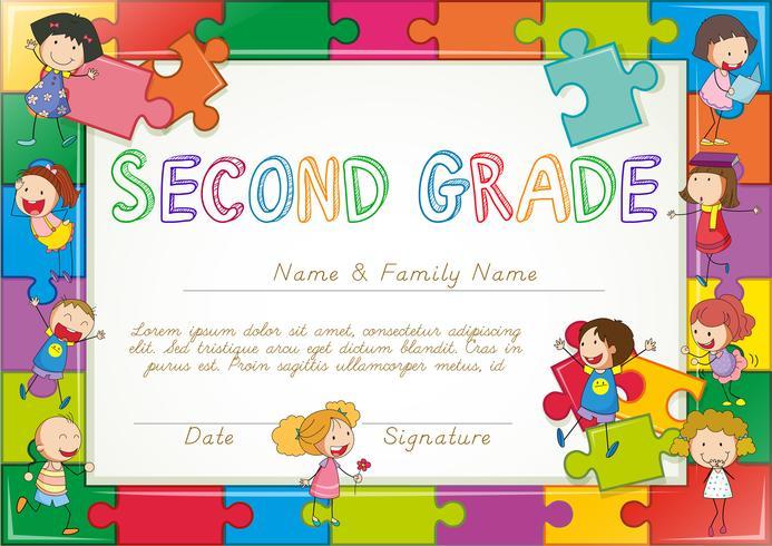 Modelo de certificado para alunos da segunda série