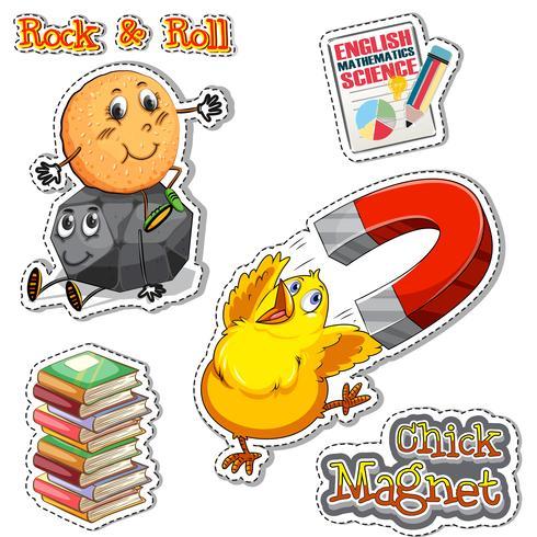 Phrase anglaise pour poussin magnet et rock & roll