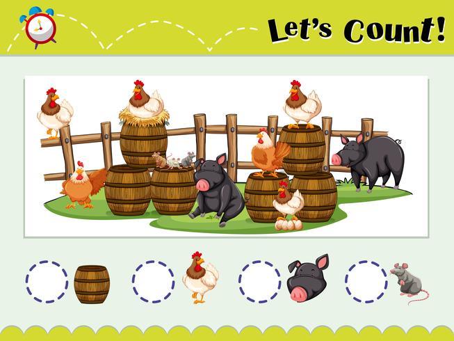 Modelo de jogo para contar animais
