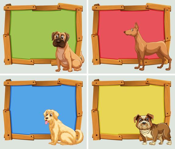 Banderolldesign med husdjurshundar