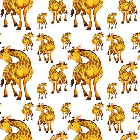 Design senza cuciture con le giraffe