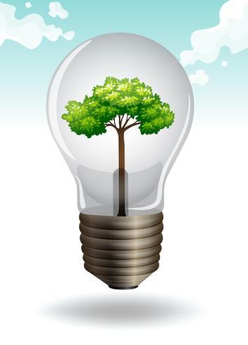Enregistrer le thème de l'énergie avec ampoule et arbre
