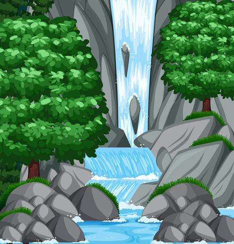 Background scene with water and stream