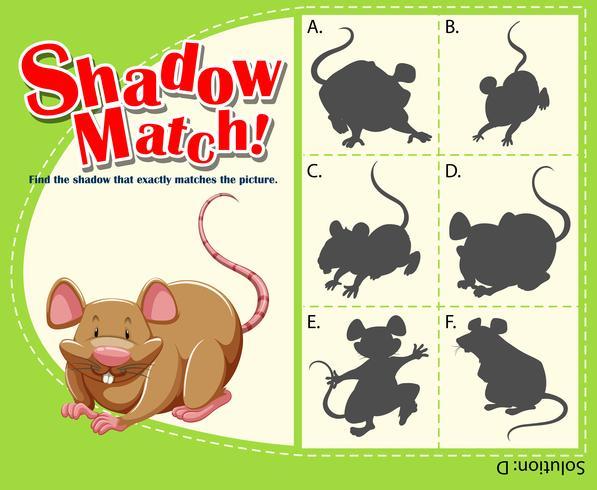 Modello di gioco con ratto corrispondente