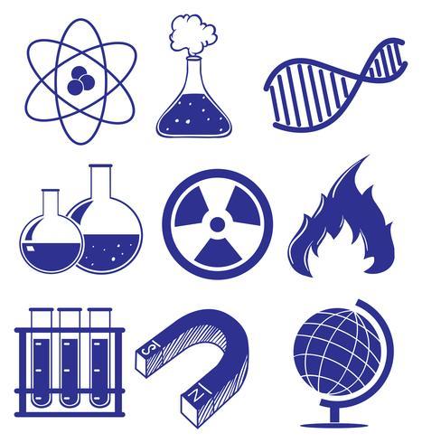 Doodle design das imagens diferentes da ciência