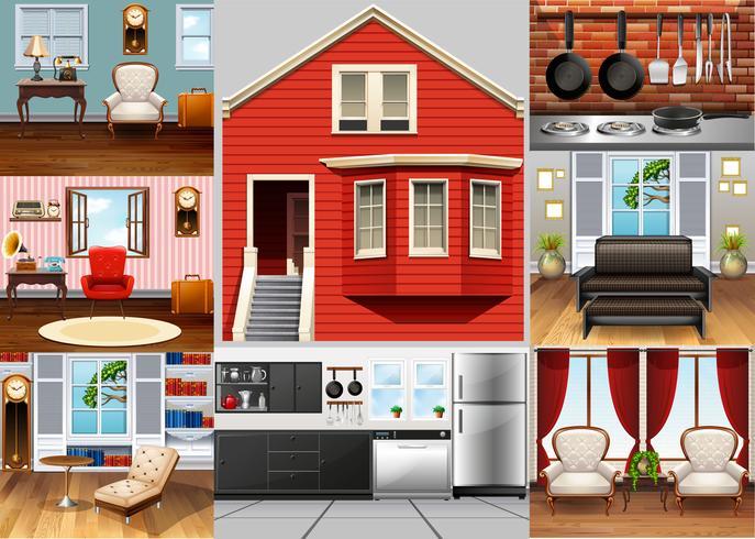 Verschiedene Räume im Haus
