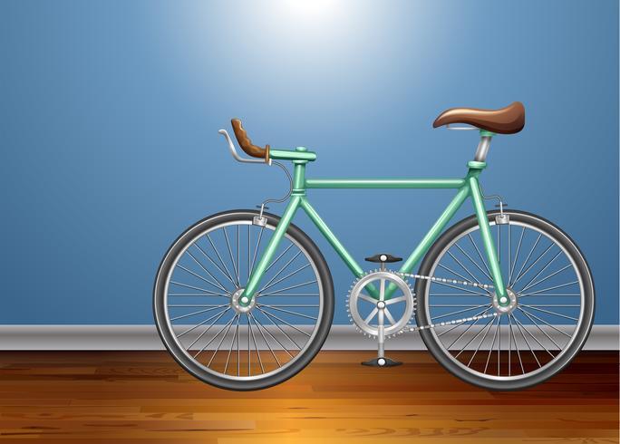 Bicicleta vintage en la habitación.