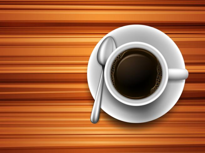 Café en una mesa